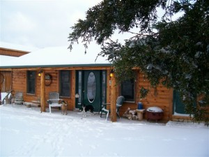 RS Ranch Cabin in Winter