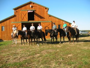 Rider in Fronf of Barn
